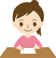 新たな不動産関連の資格について勉強する女性